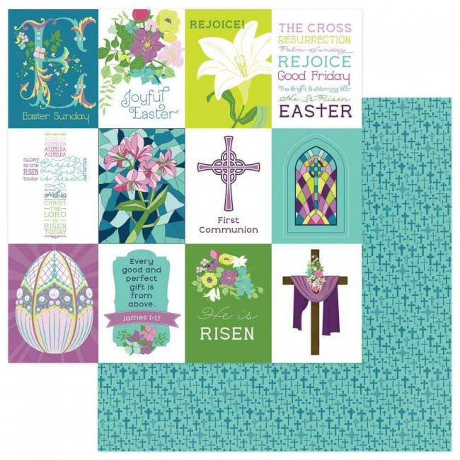 Papel Estampado Doble Cara 12x12 Easter Joy Joyful