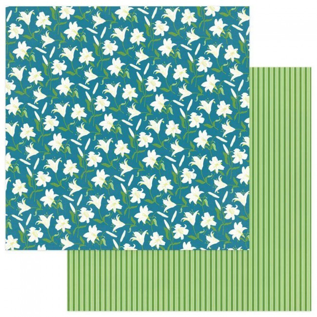 Papel Estampado Doble Cara 12x12 Easter Joy Easter Lilies