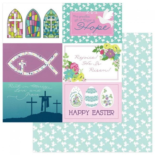 Papel Estampado Doble Cara 12x12 Easter Joy Easter Morning