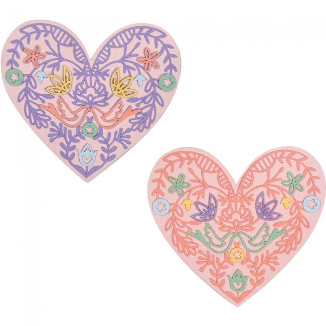 Troquel Thinlits Lace Heart Katelyn Lizardi