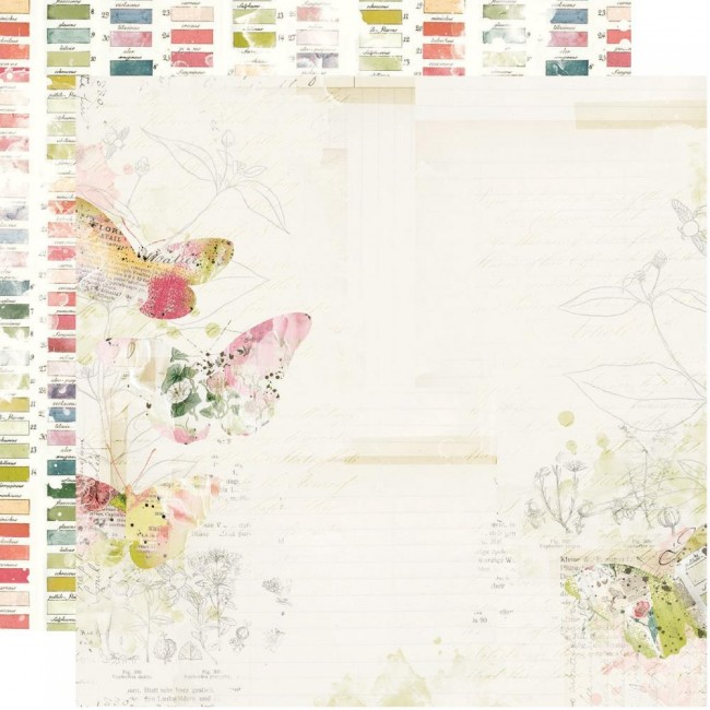 Papel Estampado Doble Cara 12x12 Simple Vintage Botanicals Everday Bliss