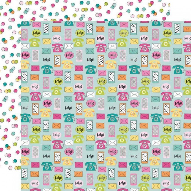 Papel Estampado Doble Cara 12x12 Oh Happy Day Oh Hello