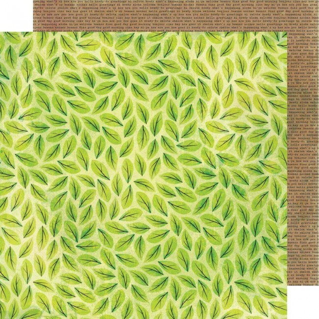 Papel Estampado Doble Cara 12x12 Color Kaleidoscope Scattered Leaves