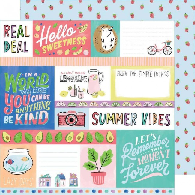 Papel Estampado Doble Cara 12x12 Stay Sweet Hello Sweetness