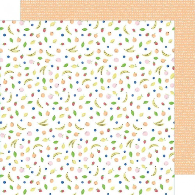 Papel Estampado Doble Cara 12x12 Stay Sweet Fruit Cocktail