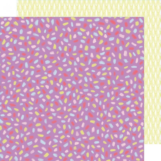 Papel Estampado Doble Cara 12x12 Stay Sweet Magenta Fiesta