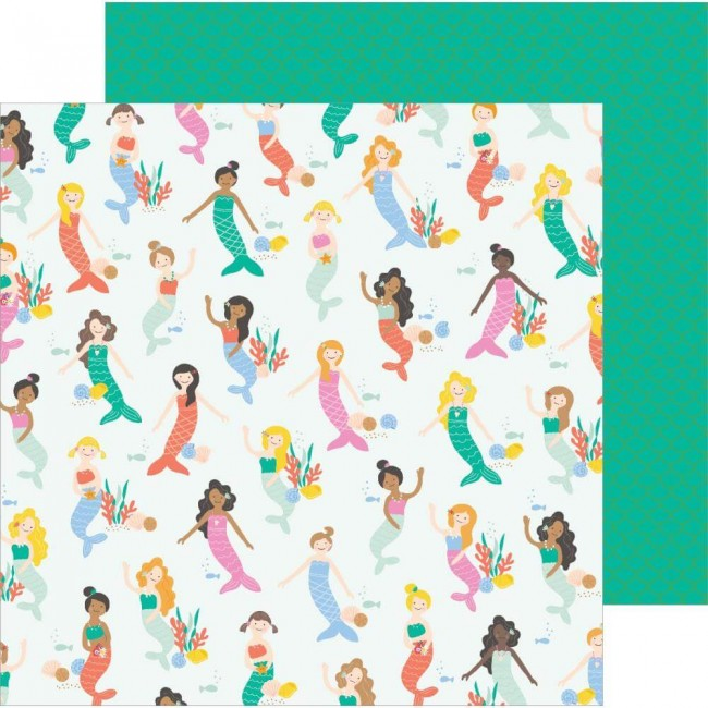 Papel Estampado Doble Cara 12x12 Oh Summertime Under The Sea
