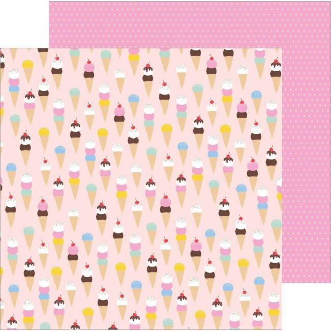 Papel Estampado Doble Cara 12x12 Oh Summertime Scoops