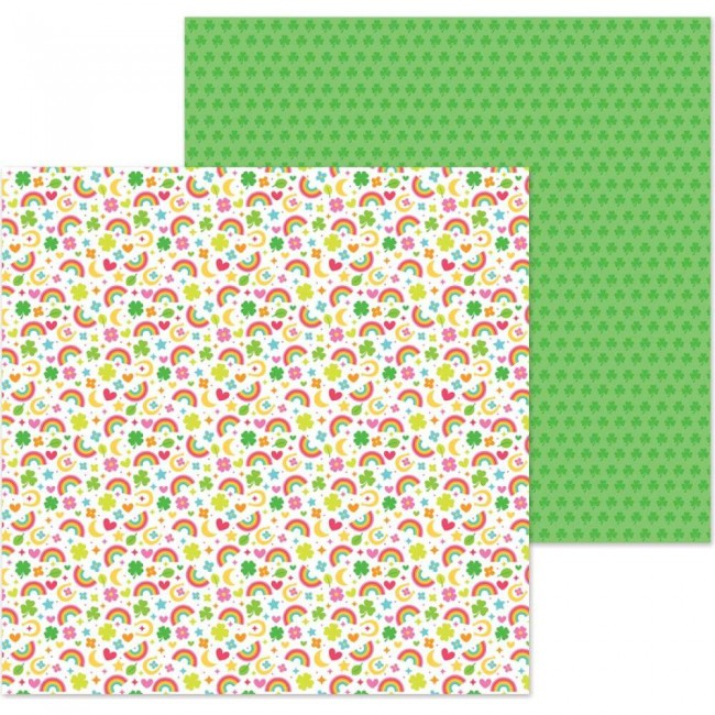 Papel Estampado Doble Cara 12x12 Lots O'Luck So Charming