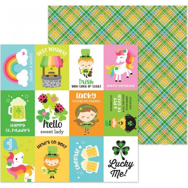 Papel Estampado Doble Cara 12x12 Lots O'Luck Pot O'gold
