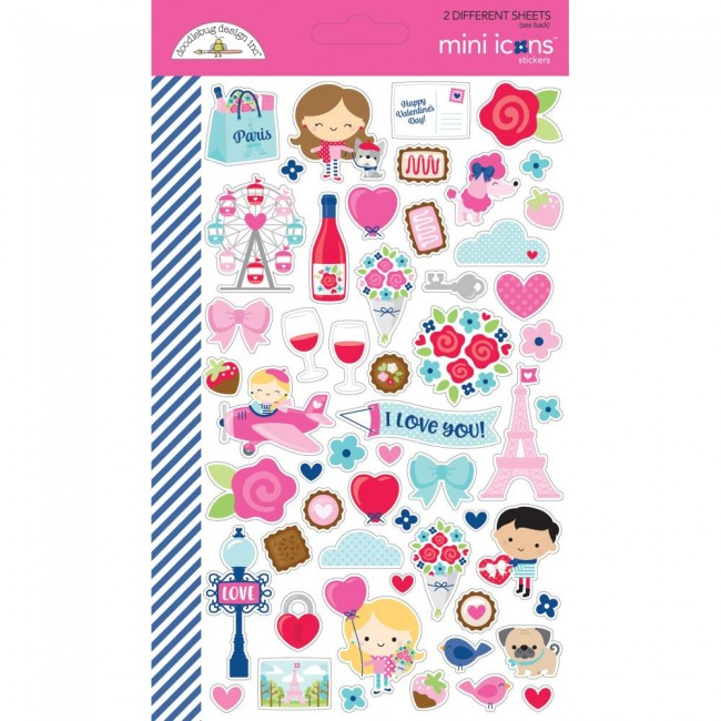 Pegatinas French Kiss Mini Icons