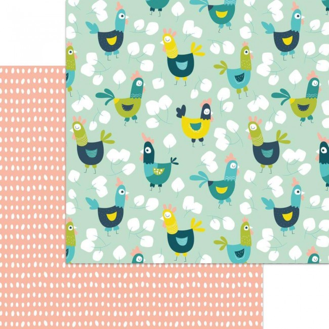 Papel Estampado Doble Cara 12x12 Happy Days Free Range