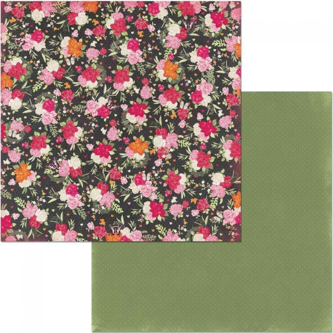 Papel Estampado Doble Cara 12x12 Sweet Clementine Bouquet