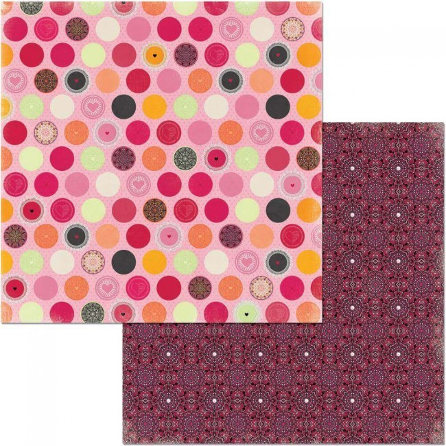 Papel Estampado Doble Cara 12x12 Sweet Clementine Graceful
