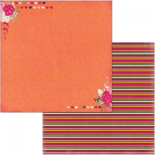 Papel Estampado Doble Cara 12x12 Sweet Clementine Kindness