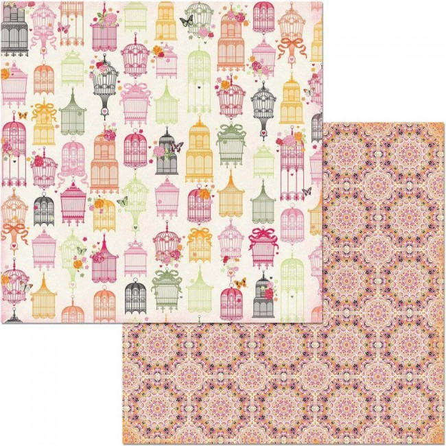 Papel Estampado Doble Cara 12x12 Sweet Clementine Lavish
