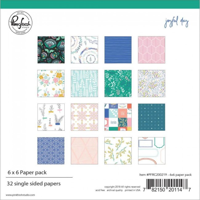 Stack Papeles Estampados 6x6 Una cara Joyful Days