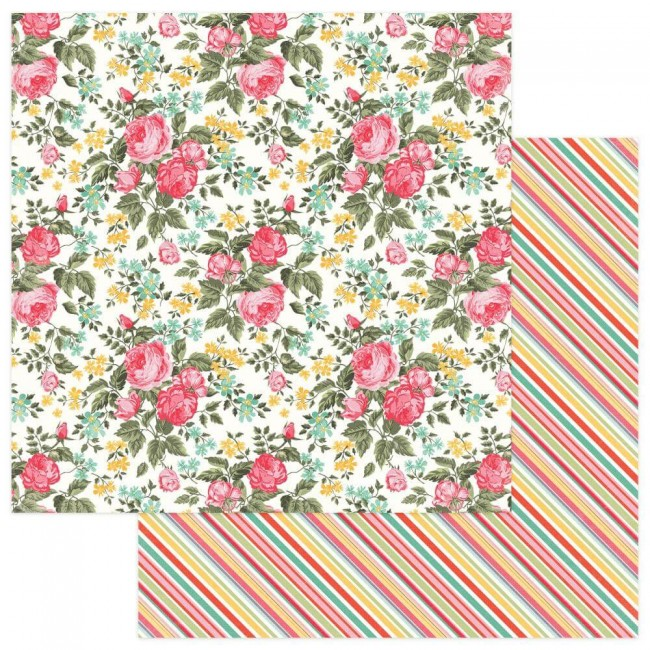 Papel Estampado Doble Cara 12x12 Belle Fleur Hello Gorgeous