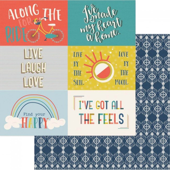 "Papel Estampado Doble Cara 12x12 Free Bird 4""X6"" Cut-Apart Cards"