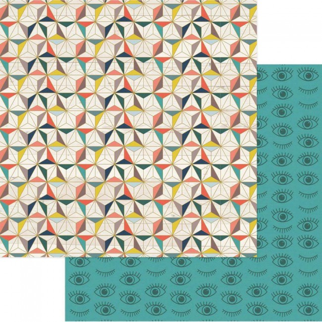 Papel Estampado Doble Cara 12x12 Free Bird Eye See You