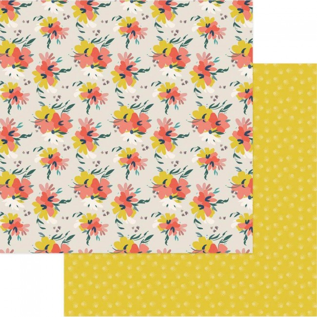 Papel Estampado Doble Cara 12x12 Free Bird Fancy Free Floral