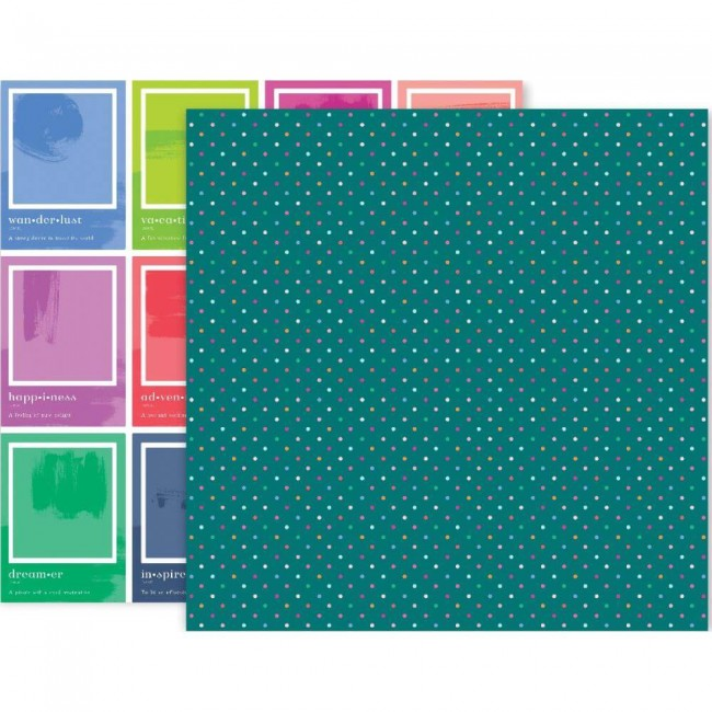 Papel Estampado Doble Cara 12x12 Horizon #18