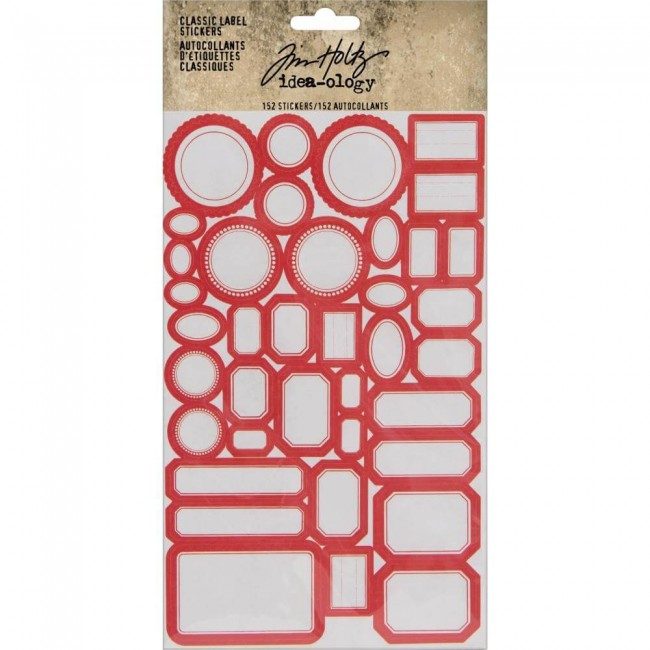 Pegatinas Idea-ology Classic Label Red/White