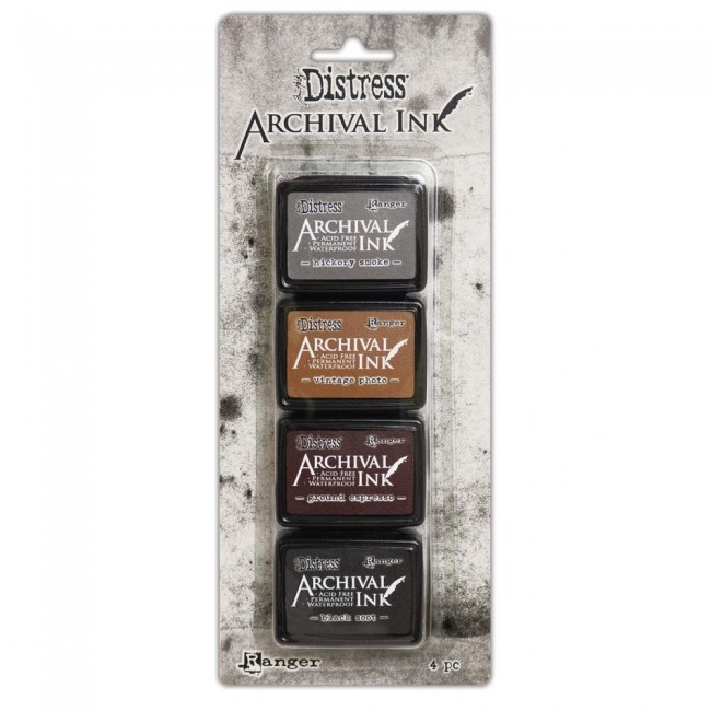 Kit Tinta Mini Archival Ink Distress Kit 3