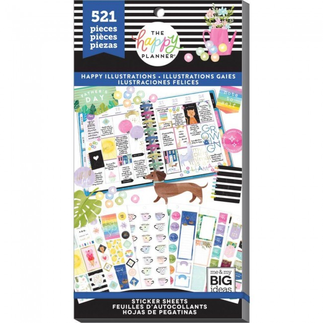 Libro de pegatinas Value Pack Create 365 Happy Illustrations