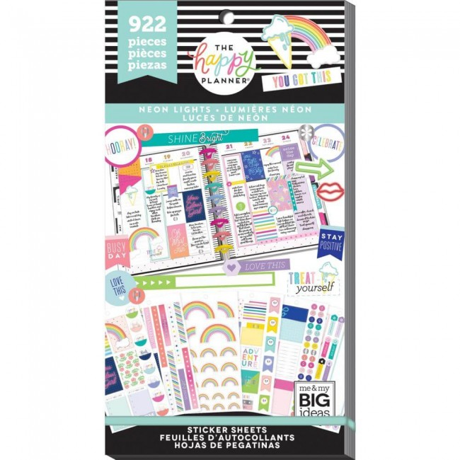 Libro de pegatinas Value Pack Create 365 Neon Lights