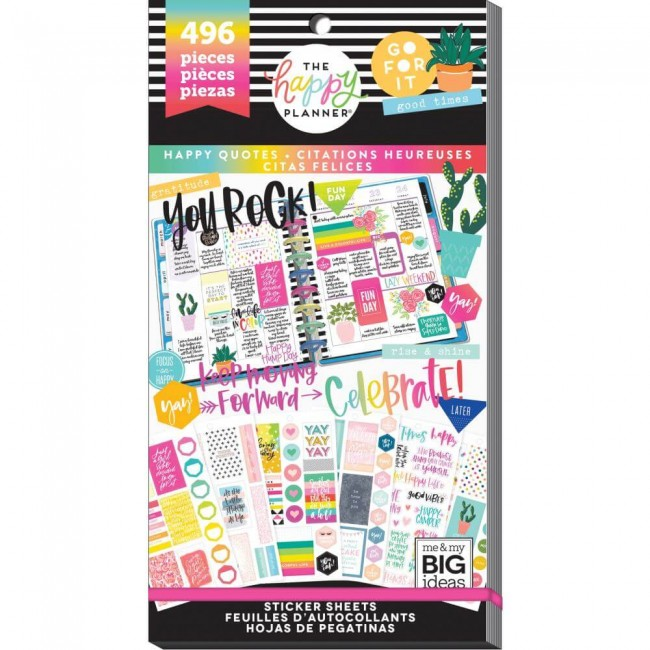 Libro de pegatinas Value Pack Create 365 Happy Quotes