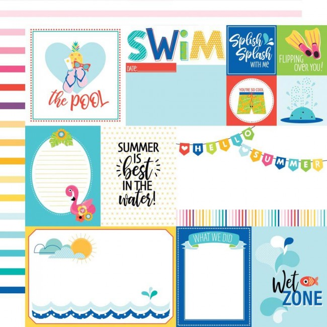 Papel Estampado Doble Cara 12x12 Splash Zone Daily Details