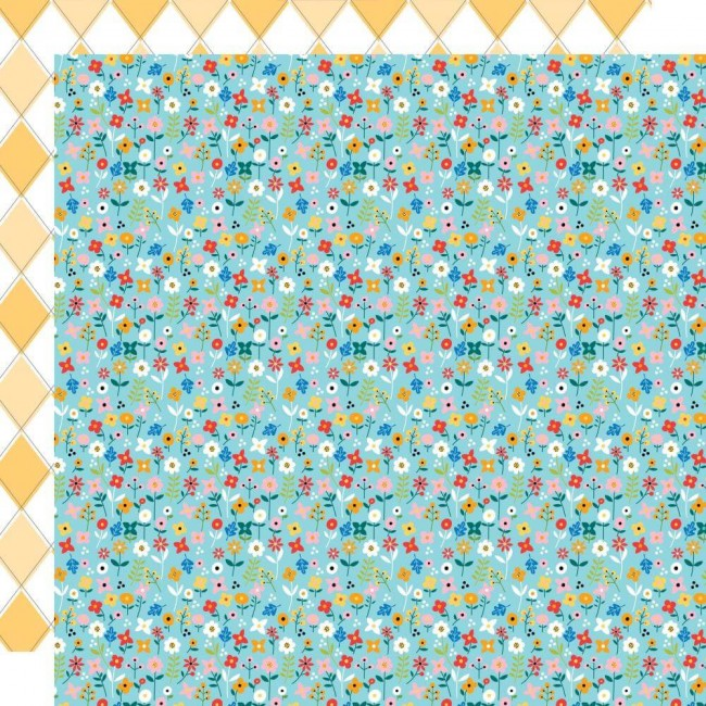 Papel Estampado Doble Cara 12x12 Let's Go On An Adventure Morning Meadow