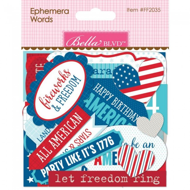 Die Cuts Words, Fireworks & Freedom