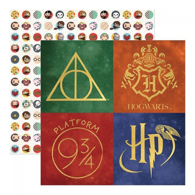 Papel Estampado Doble Cara 12x12 Harry Potter Harry Potter
