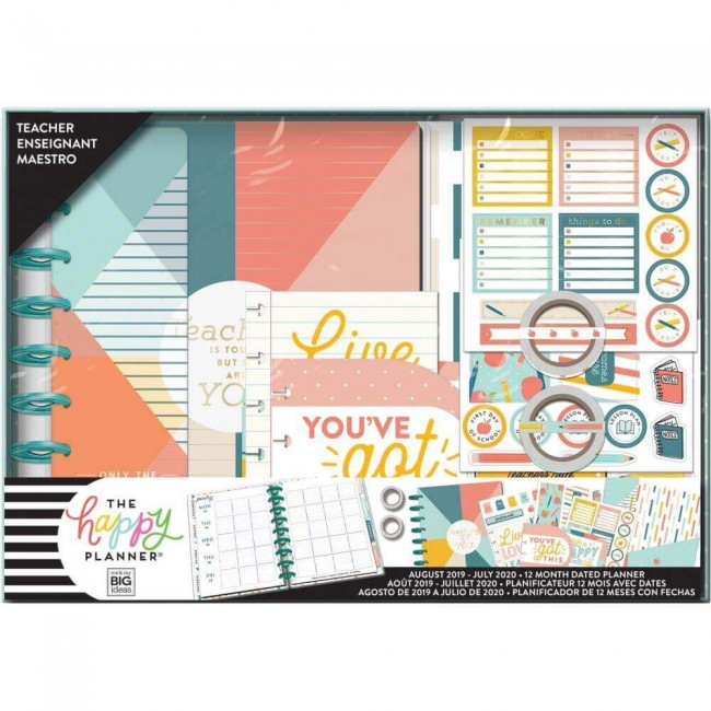 Kit Happy Planner Mediano Teaching Is Tough (Agosto 2019 - Julio 2020)
