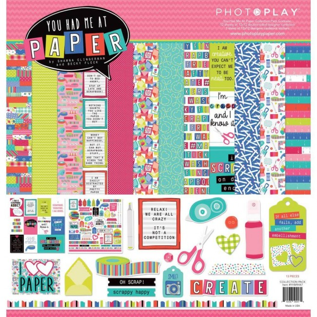 Kit Papeles Estampados 12x12 You Had Me At Paper