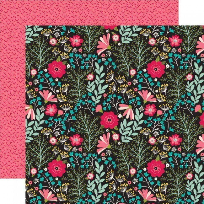 Papel Estampado Doble Cara 12x12 Forward With Faith Floral Faith