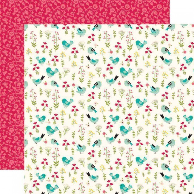 Papel Estampado Doble Cara 12x12 Forward With Faith Be Still