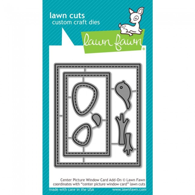 Troquel Lawn Cuts Center Picture Window Card Add-On