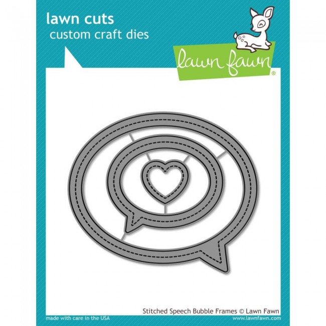 Troquel Lawn Cuts Stitched Speech Bubble Frames