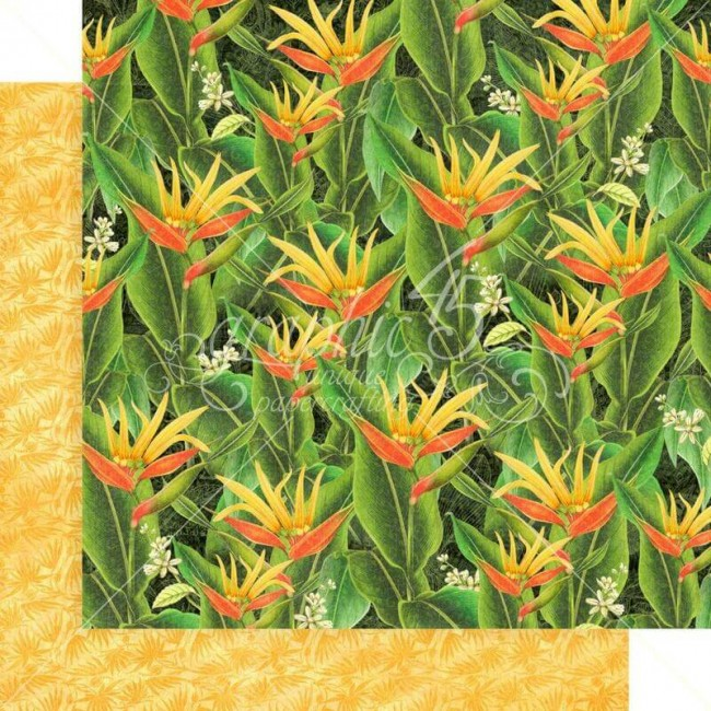 Papel Estampado Doble Cara 12x12 Lost In Paradise Utopian Fields