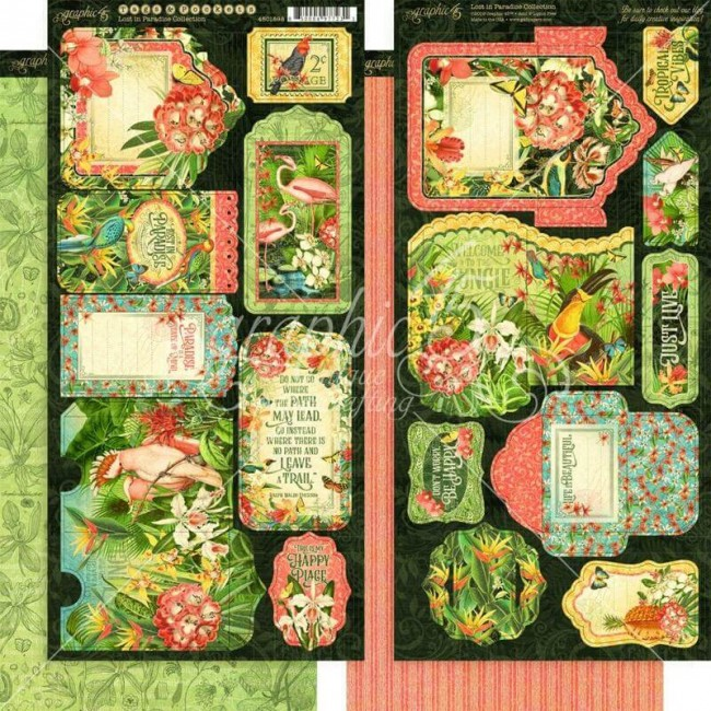 Die Cuts Lost In Paradise Tags & Pockets