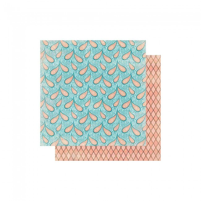 Papel Estampado Doble Cara 12x12 Endless #7 Paisley