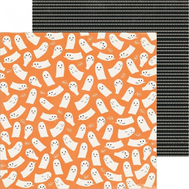 Papel Estampado Doble Cara 12x12 Hey Pumpkin Ghostly