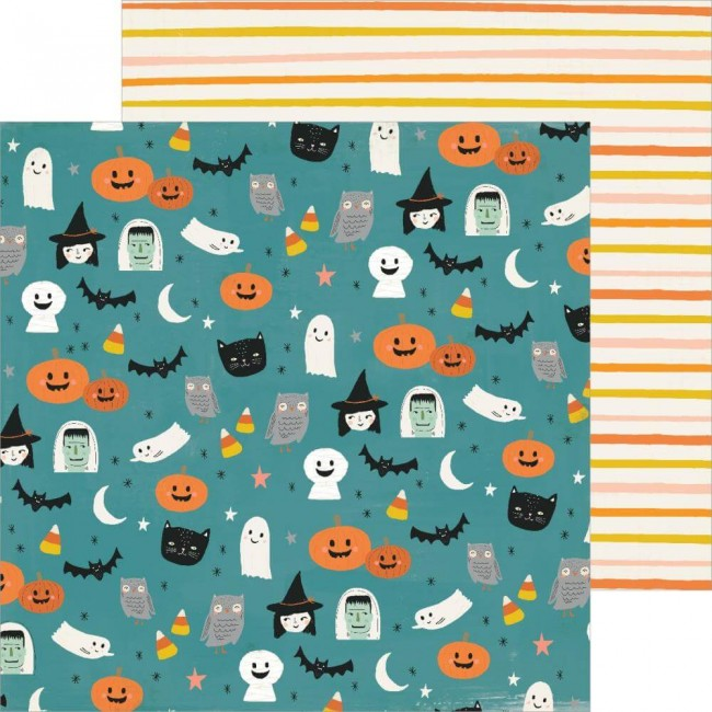 Papel Estampado Doble Cara 12x12 Hey Pumpkin Haunted