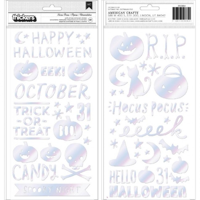 Thickers Hey Pumpkin Hocus Pocus Phrase & Icons