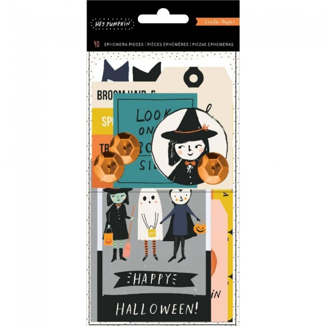 Die Cuts Hey Pumpkin Holographic Foil & Sequin Accents