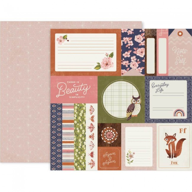 Papel Estampado Doble Cara 12x12 Again & Again #1