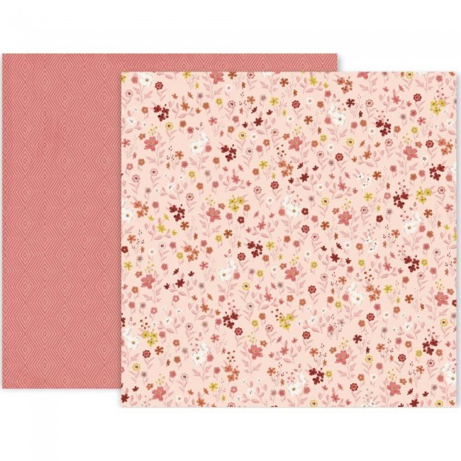 Papel Estampado Doble Cara 12x12 Again & Again #12